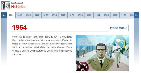 Site da Secretaria de Segurança Pública