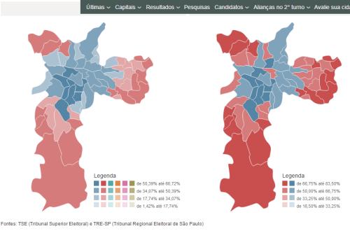 Raio x das eleições  resultados por zona eleitoral de São Paulo   UOL Eleições 2012