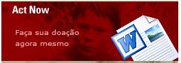 Banner do site hakani.org pede doação para instituição.