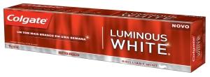 Embalagem da Colgate Luminous White.