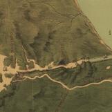 Detalhe do lado caribenho do canal no mapa de 1870. Fonte: Library of Congress.