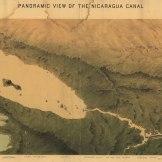 Mapa de 1870 contendo uma visão panorâmica do Canal da Nicaragua. Fonte: Library of Congress.